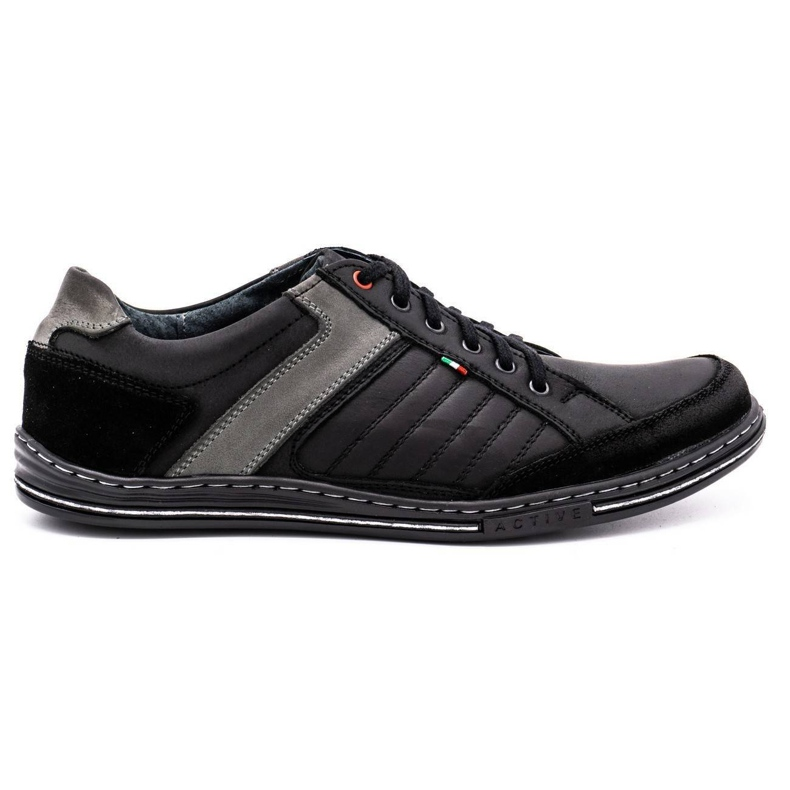 Olivier leather men's shoes 236GT black