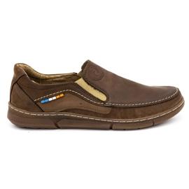 Olivier Men's slip-on shoes 283GT brown