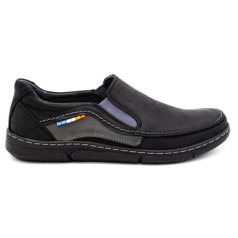 Olivier Men's slip-on shoes 283GT black