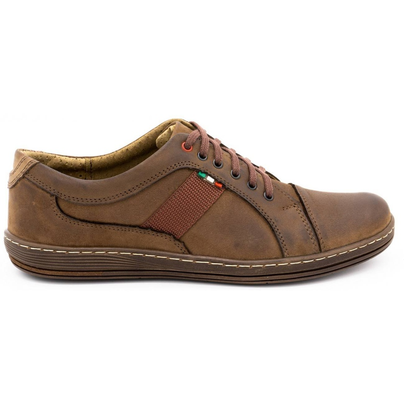 Olivier Men's leather casual shoes 238GT brown