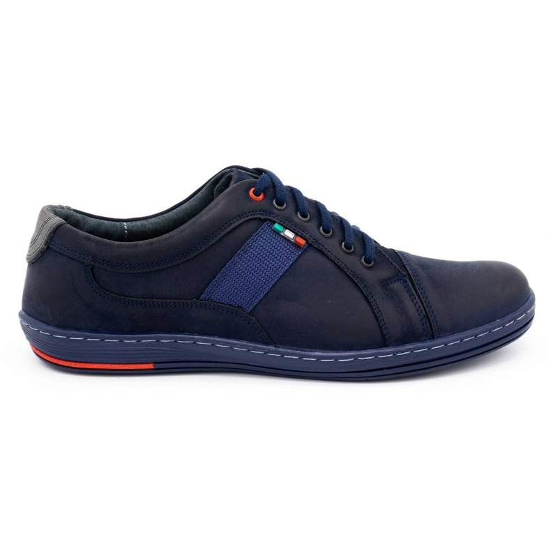 Olivier Men's leather casual shoes 238GT navy blue
