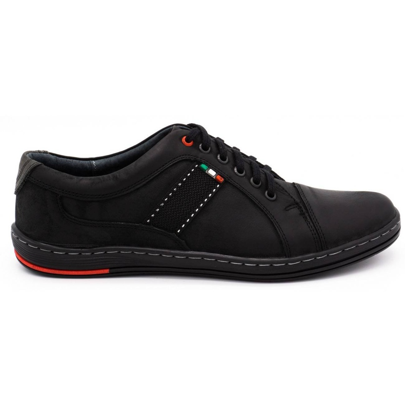 Olivier Men's leather casual shoes 238GT black