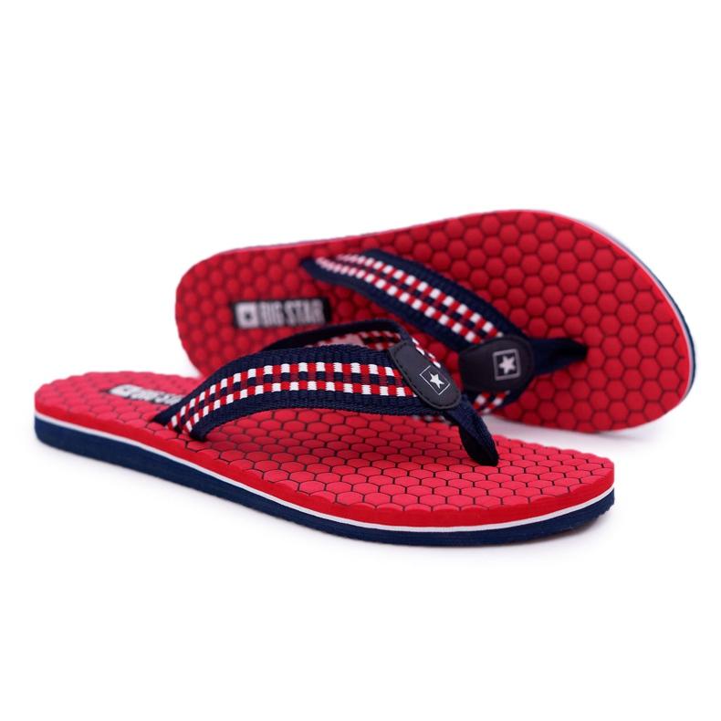 Women's Slippers Flip-flops Big Star Red DD274A252 navy blue