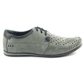 KOMODO Gray men's 875 moccasin summer shoes grey