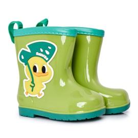 Children's Green Duck Galoshes