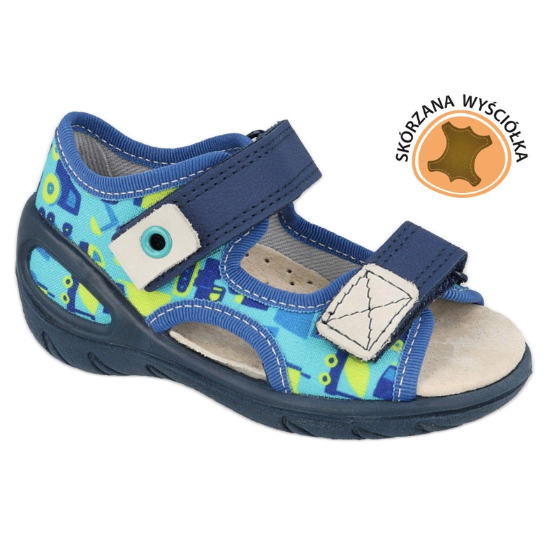Befado children's shoes pu 065P156 navy blue green