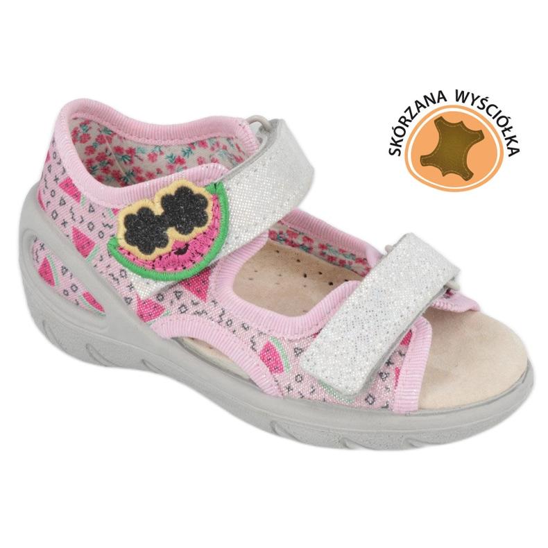 Befado preventive children's sandals 065X152 pink silver