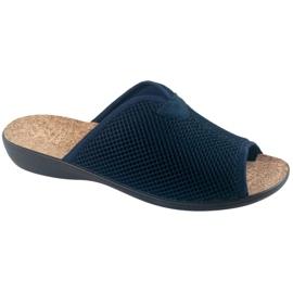 Slippers Slippers With Cork Adanex BIO 26008 Navy blue