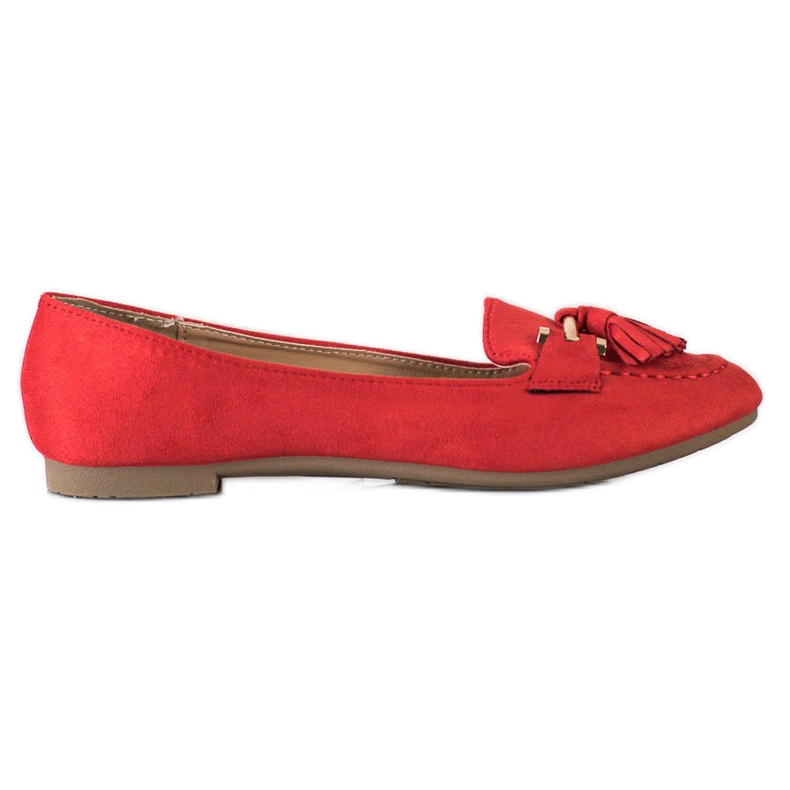 Kayla Fashionable moccasins red