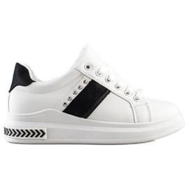 SHELOVET Casual Sneakers white black