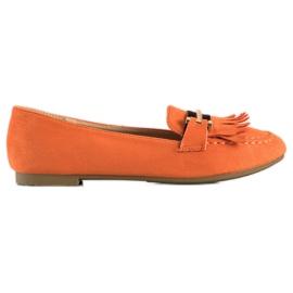 Anesia Paris Stylish moccasins orange