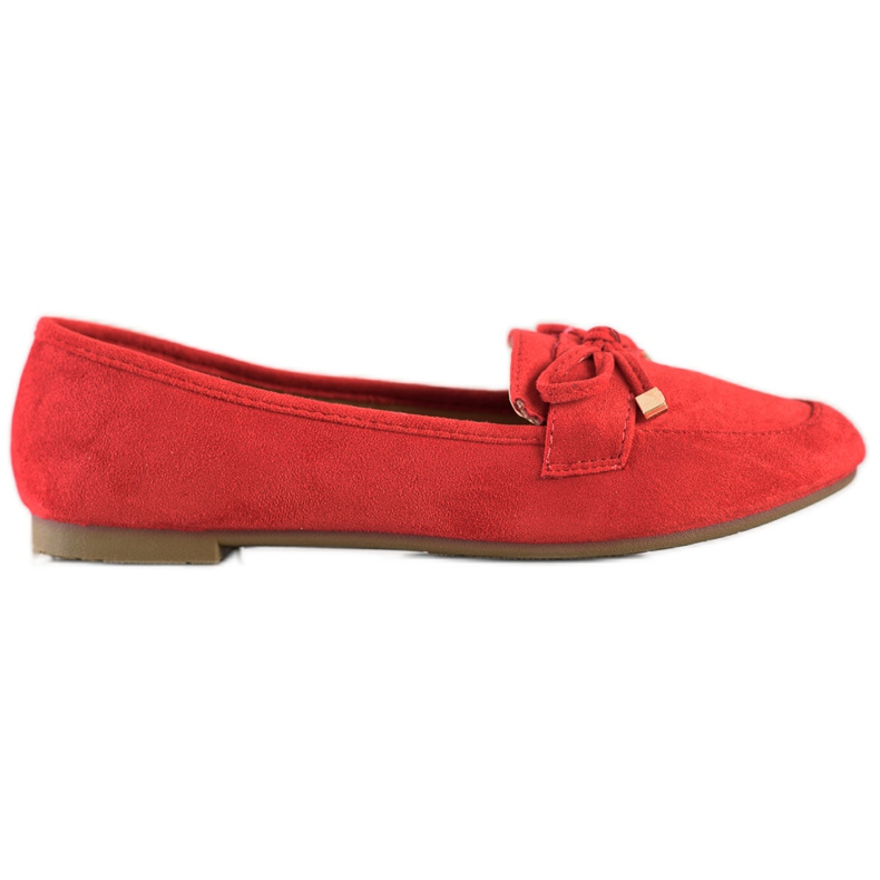 Anesia Paris Loafers With A Bow red