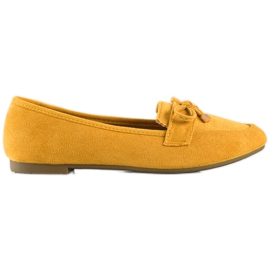 Anesia Paris Loafers With A Bow yellow