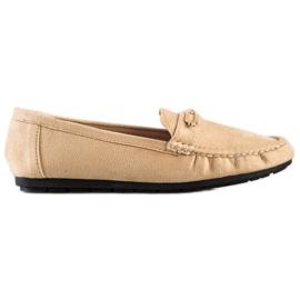 SHELOVET Comfortable Beige Loafers brown