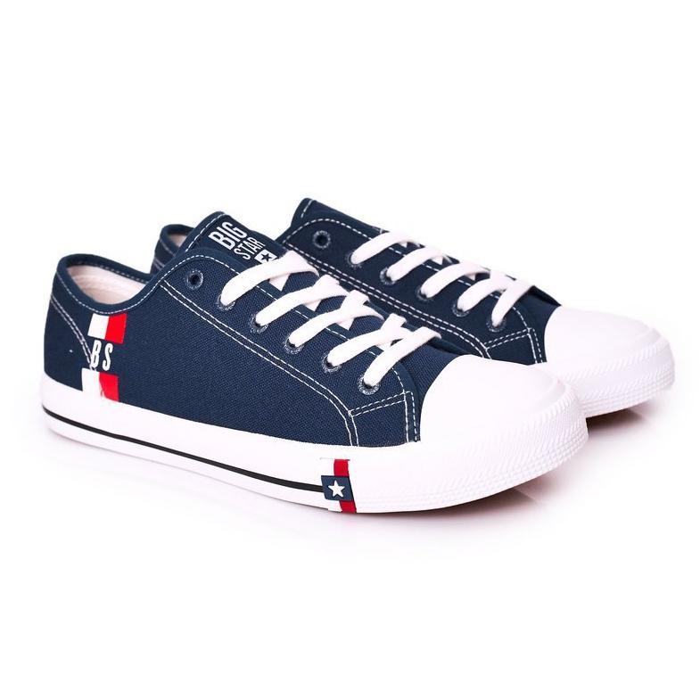 Men's Big Star HH174326 Navy blue sneakers