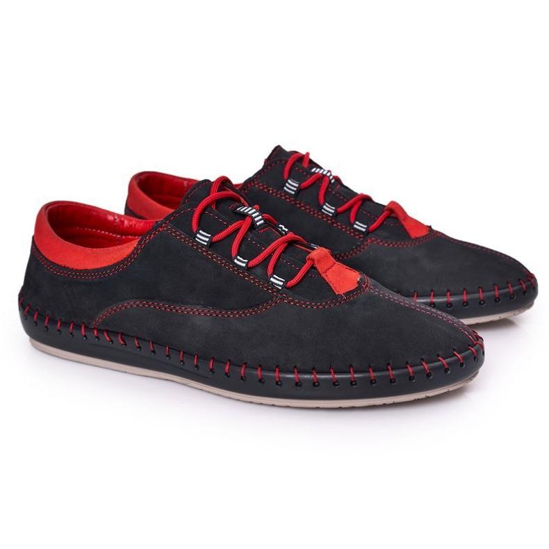Bednarek Polish Shoes Men's Leather Shoes Bednarek Navy Blue
