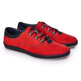 Bednarek Polish Shoes Men's leather shoes Bednarek Red