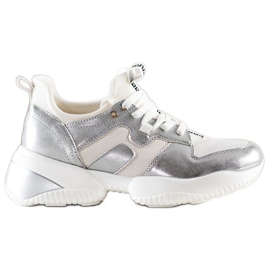 Weide White and silver Sneakers