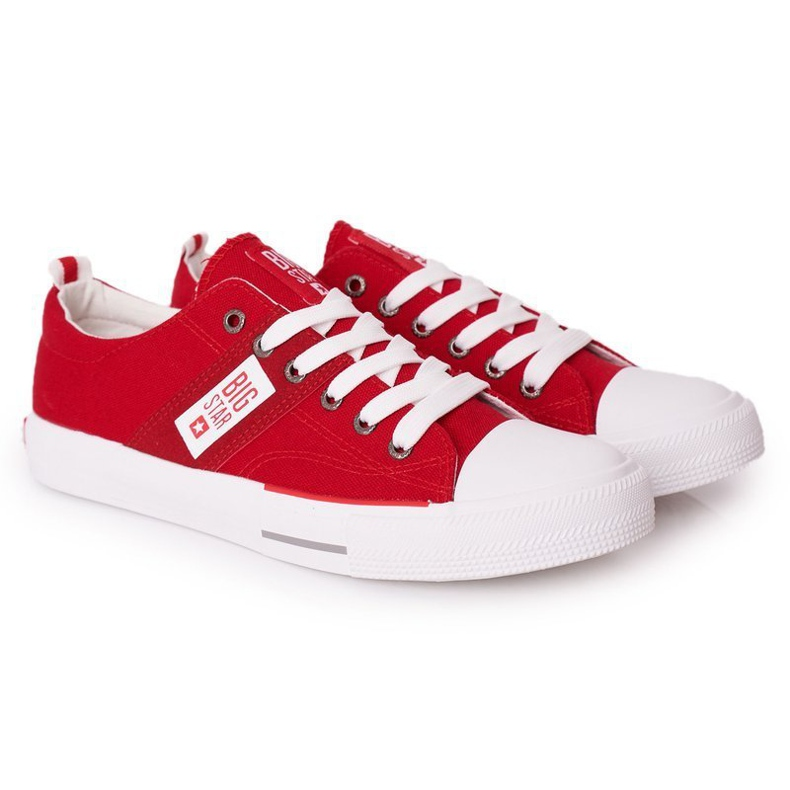 Men's Big Star HH174040 Red Sneakers white