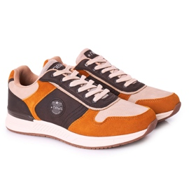 NEWS Men's sports shoes Sneakers Yellow-Brown Harold multicolored