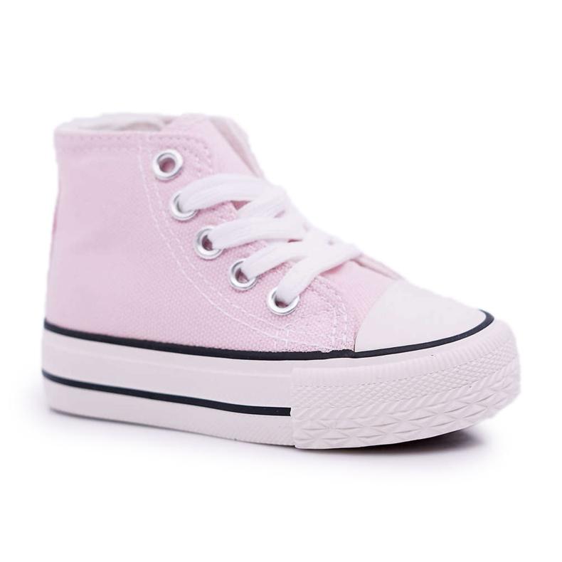 FRROCK Children's Classic High Pink Filemon Sneakers