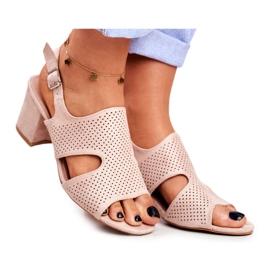 BUGO Beige Openwork Valery Women's Sandals
