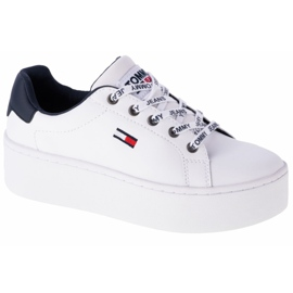 Tommy Hilfiger Iconic Leather Flatform shoes in EN0EN01113-YBR white navy
