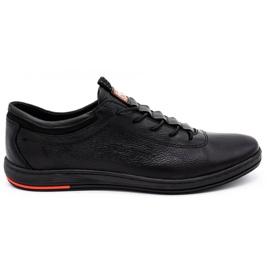 Polbut Black casual leather men's shoes K23