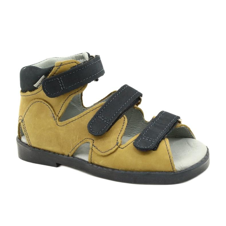 High prophylactic sandals Mazurek 291 gray orange grey yellow
