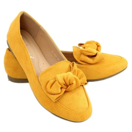 Loafers with a bow honey 88-382 Yellow
