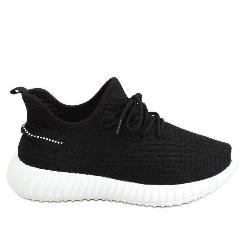 Black socks sports shoes 7817 BLACK / WHITE