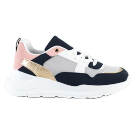 SHELOVET Stylish sneakers with mesh multicolored