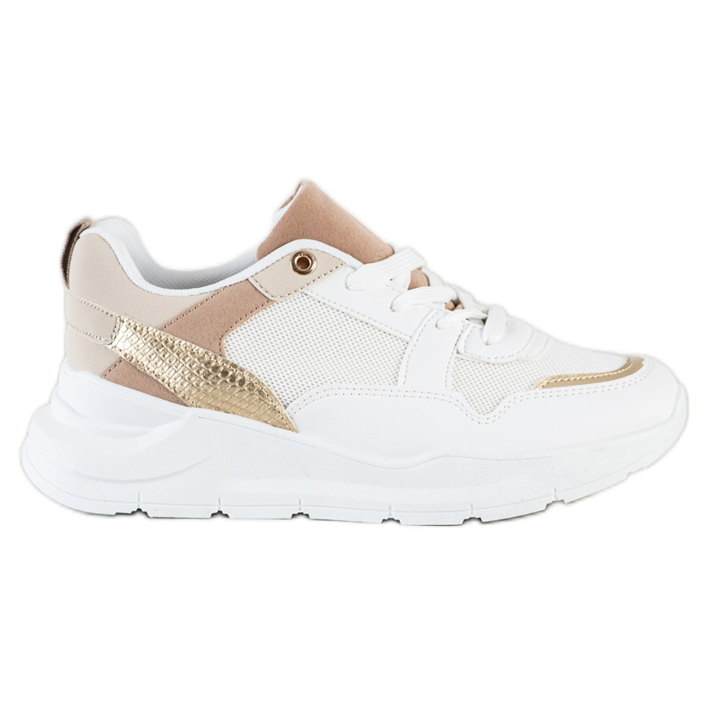 SHELOVET Stylish Sneakers With Mesh white