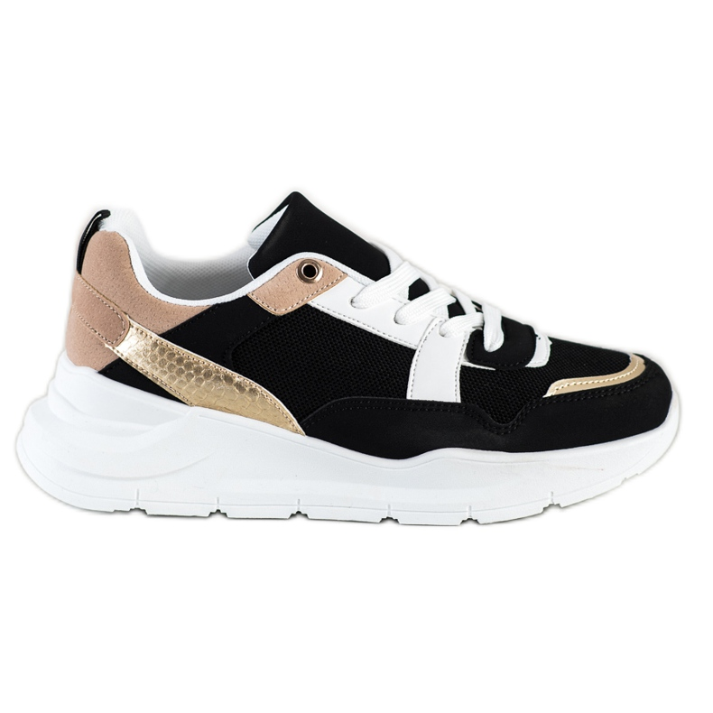SHELOVET Stylish sneakers with mesh black