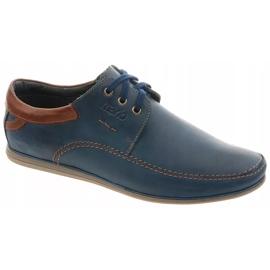 Mario Pala Men's leather shoes 594 navy blue