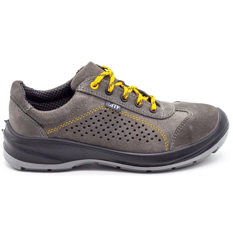 ŁUKPOL Gray Techwork 1128 men's working shoes grey