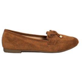 Anesia Paris Loafers With A Bow brown