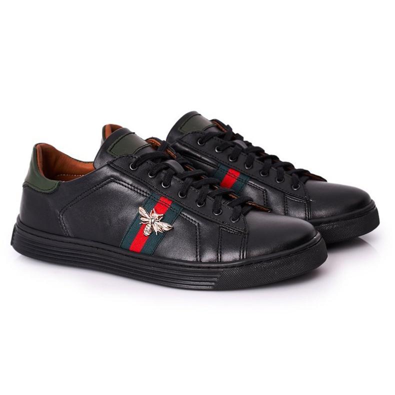 Bednarek Polish Shoes Men's Leather Shoes Sneakers Bednarek Black