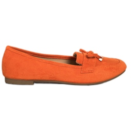 Anesia Paris Loafers With A Bow orange