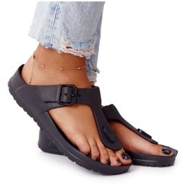 NEWS Women's Rubber Flip-flops Black Alma