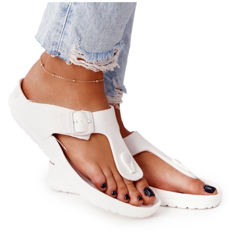 NEWS Women's Rubber Flip-flops White Alma