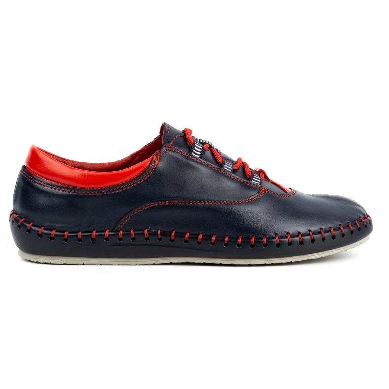 Olivier Casual men's shoes 312K navy blue grain