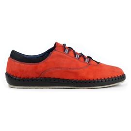Olivier Casual men's shoes 312K red nubuck