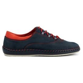 Olivier Men's casual shoes 312K navy blue nubuck