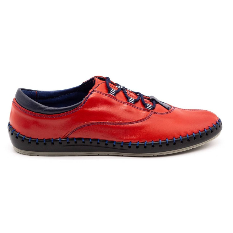 Olivier Casual men's shoes 312K red grain