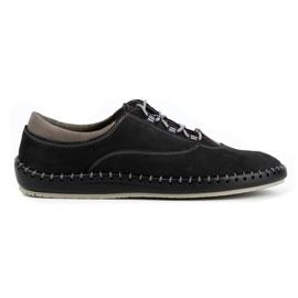 Olivier Casual men's shoes 312K black nubuck
