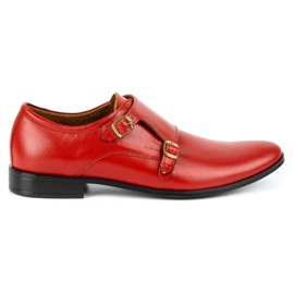 Lukas Leather formal shoes Monki 287LU red