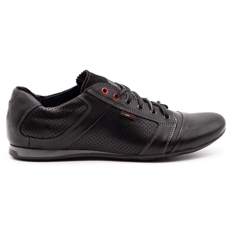 Lemar Black men's leather shoes 882