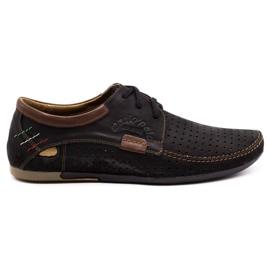 Mario Pala Men's openwork shoes 563 black brown