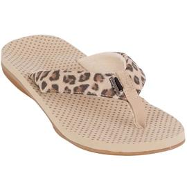Kappa Fayola beige women's slippers 242980 4150 brown